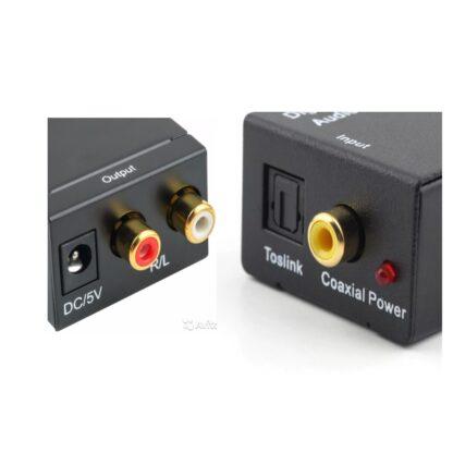 Аудио конвертер Toslink - 2RCA