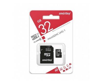 Карта памяти Micro SDHC 32 Gb 10cl. Smartbuy
