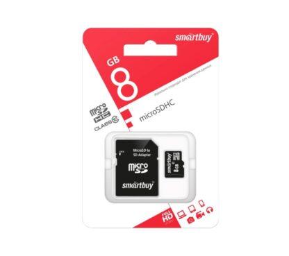 Карта памяти Micro SDHC 8 Gb Smartbuy