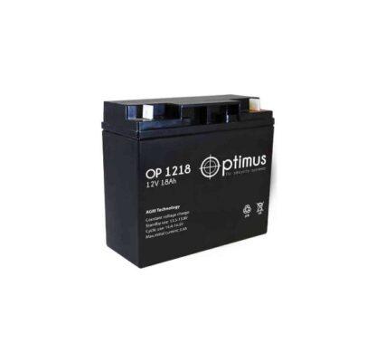 Аккумуляторная батарея Optimus OP-1218 12 В 18 А\ч