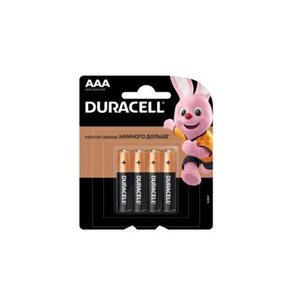 Элемент питания (батарейка) Durasell ААА 4 шт. Alkaline